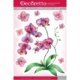 """Интерьерная наклейка """"Акварельная орхидея"""" Decoretto"""
