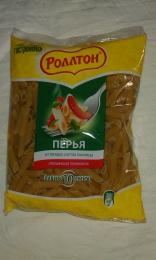 """Макароны Ролтон """"Перья из твердых сортов пшеницы""""  высший сорт"""