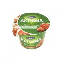 """Йогурт """"Активиа"""" Супер-фрукты клубника-земляника"""