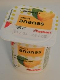 Йогурт Auchan Ananas с ананасом
