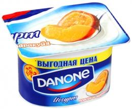 Йогурт Danone Персик и маракуйя
