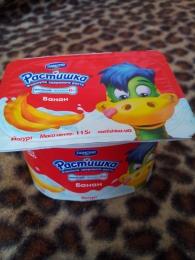 """Йогурт Danone """"Растишка"""" Банан 1.5%"""