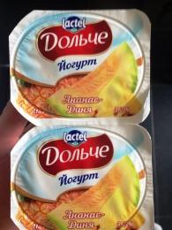 """Йогурт """"Дольче"""" Ананас-дыня 3,2%"""