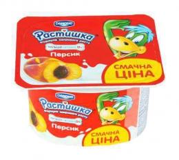 """Йогурт """"Растишка"""" Danone персик"""