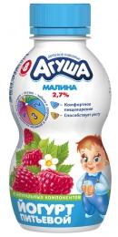 """Йогурт питьевой """"Агуша"""" малина 2,7%, с 8 месяцев"""
