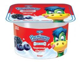 """Йогурт """"Растишка"""" Danone черника-ежевика"""