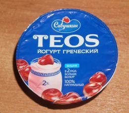 Йогурт Савушкин «Греческий» 2% Вишня