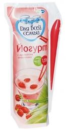 Йогурт со вкусом земляники «Для всей семьи», 1,5%