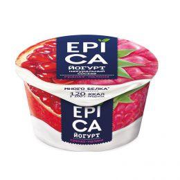 """Йогурт высокобелковый """"Epica"""" с гранатом и малиной 4,8%"""