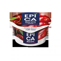 Йогурт высокобелковый Epica вишня-черешня 4,8%