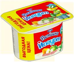 """Йогурт яблоко-груша """"Растишка"""" Danone"""