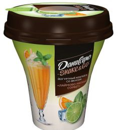 """Йогуртный коктейль Даниссимо Shake&Go  со вкусом """"Лаймово-мятный сорбет"""""""