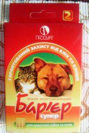 """Капли инсектоакарицидные ТМ Продукт """"Барьер супер"""" для взрослых собак и кошек"""
