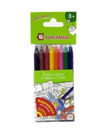 Карандаши пластиковые Baramba + раскраска арт. B96208