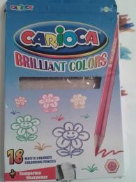 """Карандаши цветные """"Carioca"""" Brilliant Colors 18 цветов"""