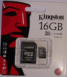 Карта памяти Kingston MicroSDHC Class 10