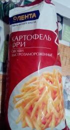 """Овощи быстрозамороженные """"Картофель фри"""" Лента"""
