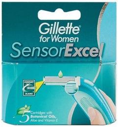 Сменные кассеты для бритвы Gillette for women «Sensor Excel»