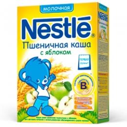 Каша молочная Nestle пшеничная с яблоком