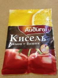 """Кисель """"Айдиго"""" лимон + вишня"""