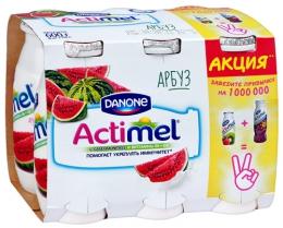 """Кисломолочный продукт """"Actimel"""" арбуз"""