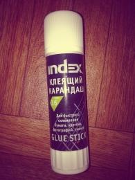 Клей-карандаш Index Glue Stick