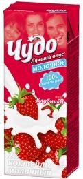 """Коктейль """"Чудо молочное"""" Клубника"""
