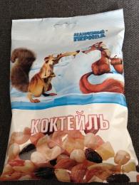 """Коктейль """"Ледниковый период"""" из орехов и фруктов"""