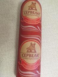 """Колбаса варено-копченая """"Сервелат"""" Сибирская продовольственная компания"""