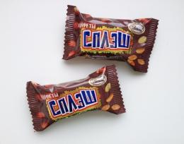 """Конфеты Акконд """"Сплэш"""" с шоколадной нугой и арахисом"""