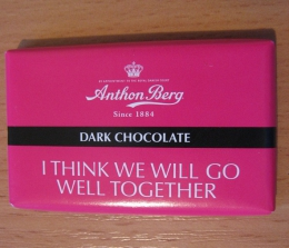 "Конфеты Anthon Berg ""Dark Chocolate"" I Think We Will Go Well Together"