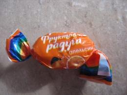 """Конфеты карамель Konti """"Фруктовая радуга"""" апельсин"""