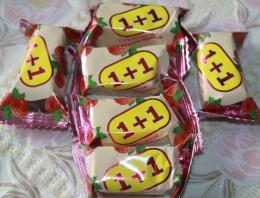 """Конфеты Суфле+желе """"1+1"""" со вкусом малины Новгородская кондитерская фабрика"""