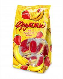 """Конфеты желейные неглазированные Ламзурь """"Принцесса Фрутти вкус клубника-банан"""""""