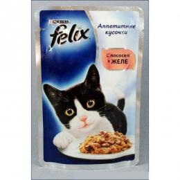 """Консервы Purina Felix """"Аппетитные кусочки с лососем в желе"""""""
