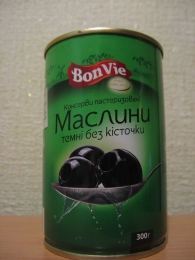 """Консервы пастеризованные Bon Vie """"Маслины темные без косточки"""""""