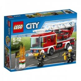 """Конструктор Lego City """"Пожарный автомобиль с лестницей"""" 60107"""