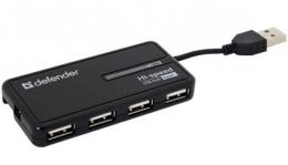 Концентратор Defender USB 2.0 Hi-Speed 4-Port Hab