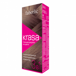 """Концентрированный оттеночный шампунь-кондиционер 3 в 1 Faberlic Krasa """"Лесной орех"""""""