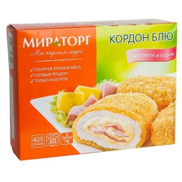 """Кордон блю """"Мираторг"""" с ветчиной и сыром"""