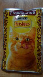 Корм для кошек Purina Friskies с говядиной
