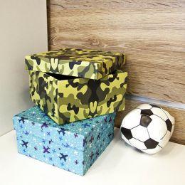 Коробка подарочная Бэст Прайс защитного цвета 15х15 см