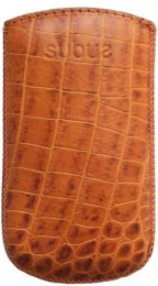 Кожаный чехол Subus для Nokia 5800 Коричневый крокодил