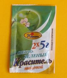 """Краситель пищевой """"Квитень"""" светло-зеленый"""