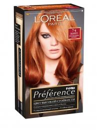 "Краска для волос L'oreal Feria Preference ""Манго"" 74"