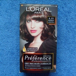 Краска для волос L'Oreal Paris Recital Preference 4.15 Каракас Темный Каштан