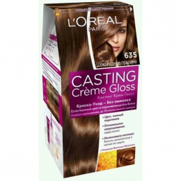 "Краска-уход для волос без аммиака L'oreal Casting Creme Gloss 635 ""Шоколадное пралине"""