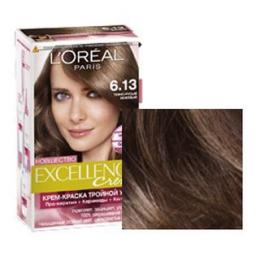 Красящий крем для волос L'Oreal Paris Excellence Creme 6.13 темно-русый бежевый