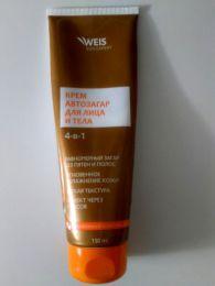 Крем автозагар для лица и тела Weis 4-в-1