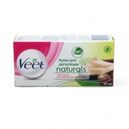 """Крем для депиляции """"Veet Naturals"""" с маслом ши для нормальной и сухой кожи"""